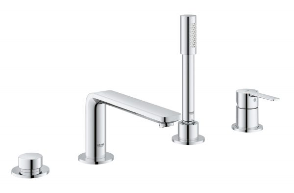 Grohe 19577001 lineare four-hole bathtub faucet with handshower
