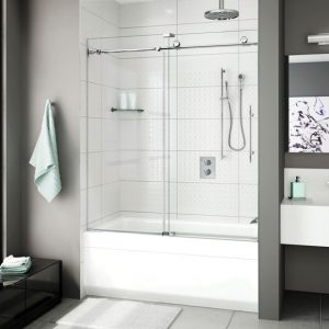 Fleurco K2 Tub Enclosure Sliding Door And Fixed Panel