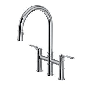 Perrin & Rowe U.4549HT-APC-2 Armstrong Bridge Kitchen Faucet